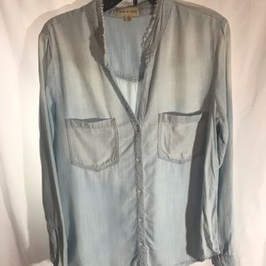 Cloth & stone jean shirt with ombré effect size M
